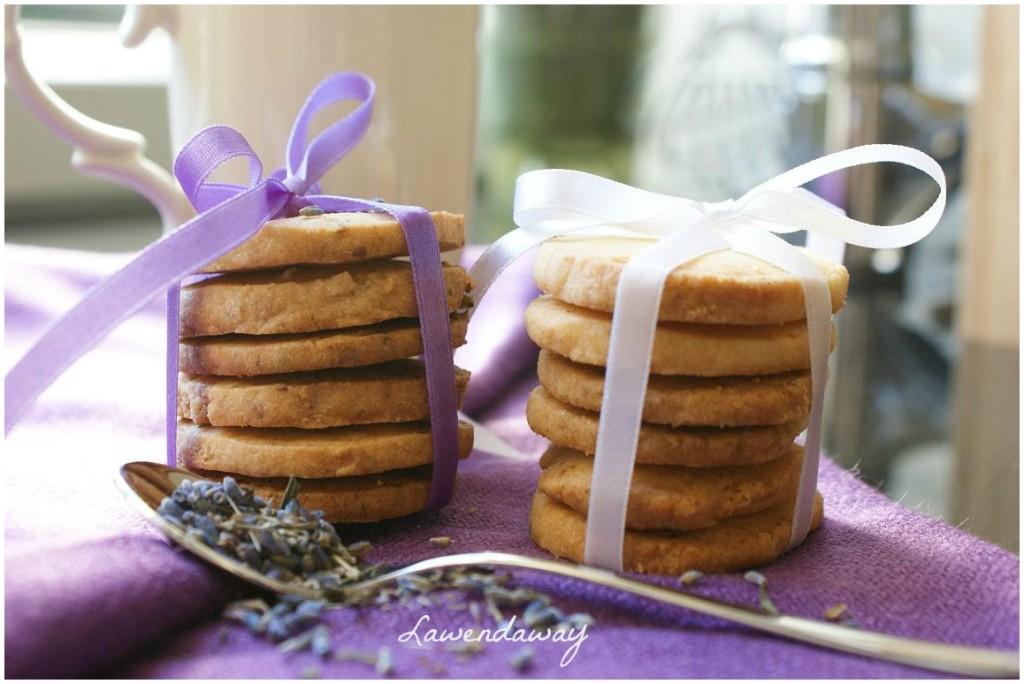 Ciasteczka Maślano - Cytrynowe z Lawendą