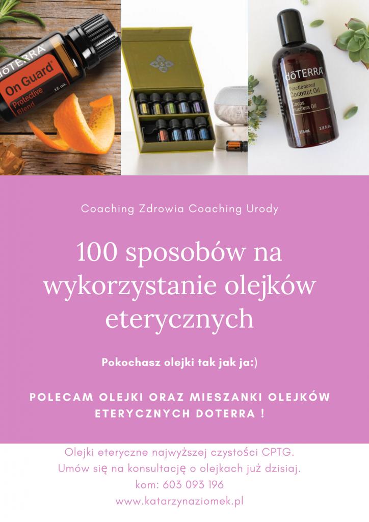 100 sposobów na wykorzystanie olejków eterycznych